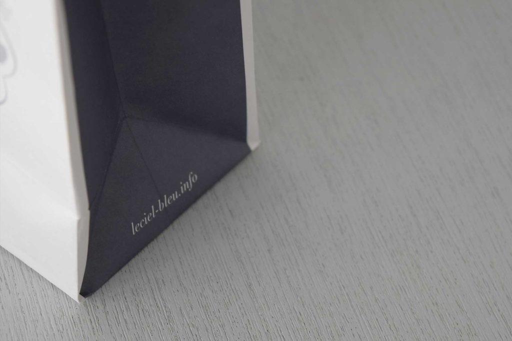 長野市のパティスリーLe ciel bleu様の紙袋を制作しました。